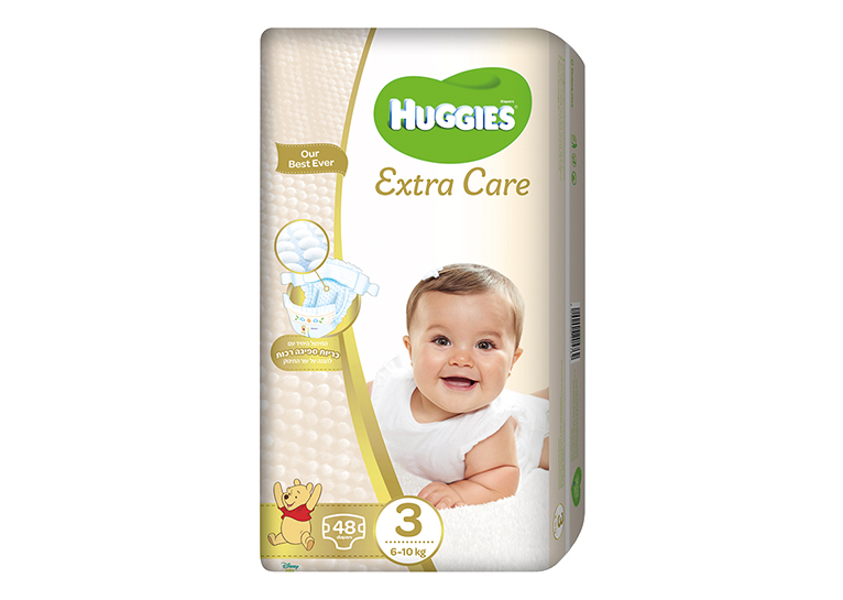 חיתולי Huggies Extra Care  מידה 3